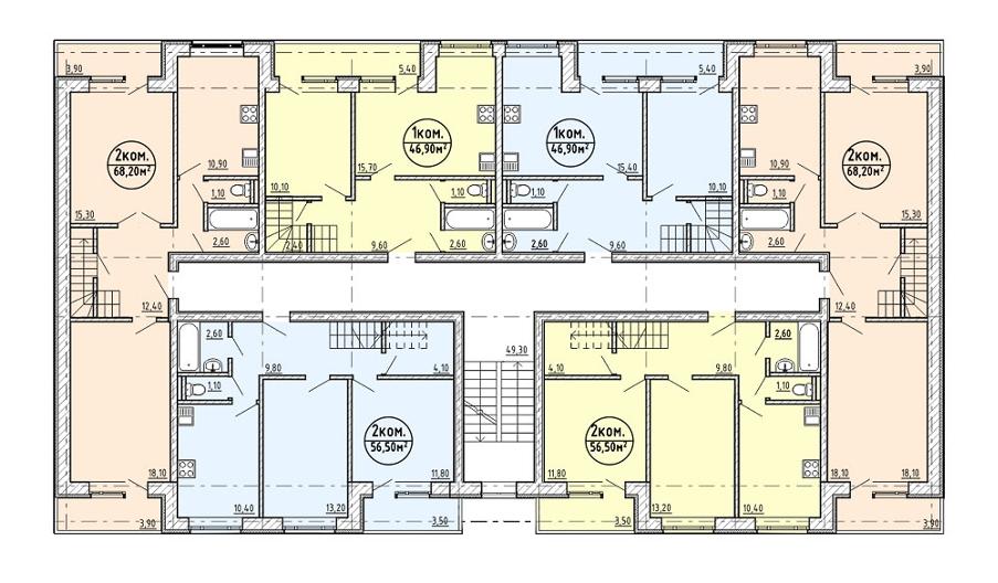Схема квартир в озерном
